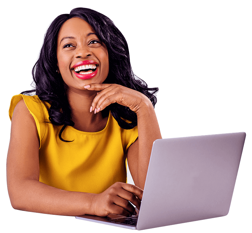 woman using laptop looking at a Digital marketing agency