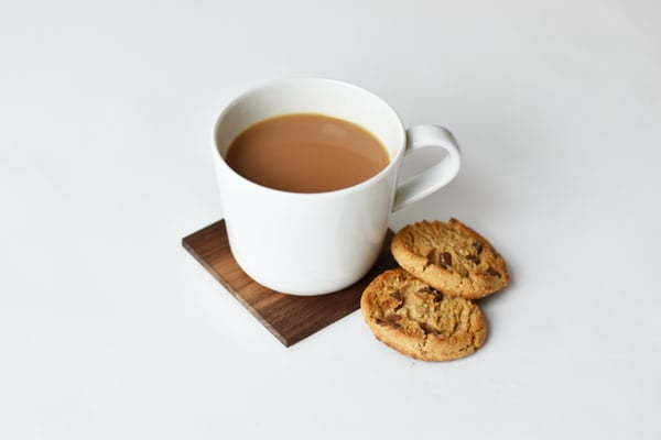 cup of tea and cookies