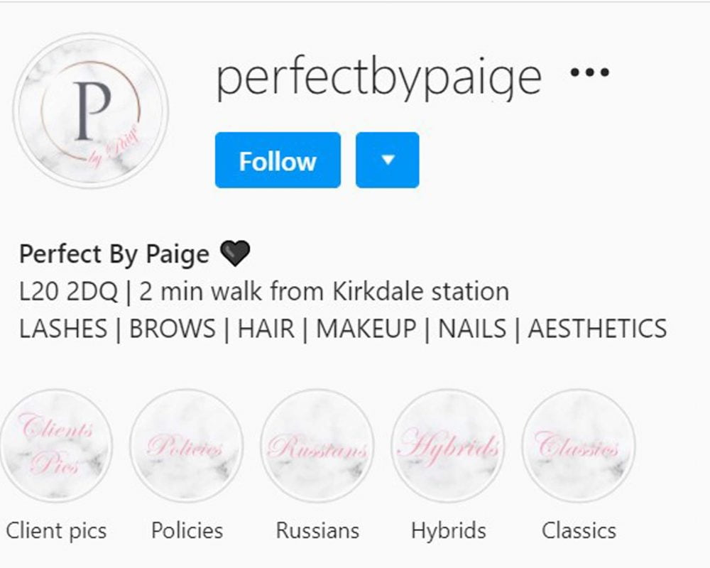 Perfect By Paige Bootle Instagram Profile